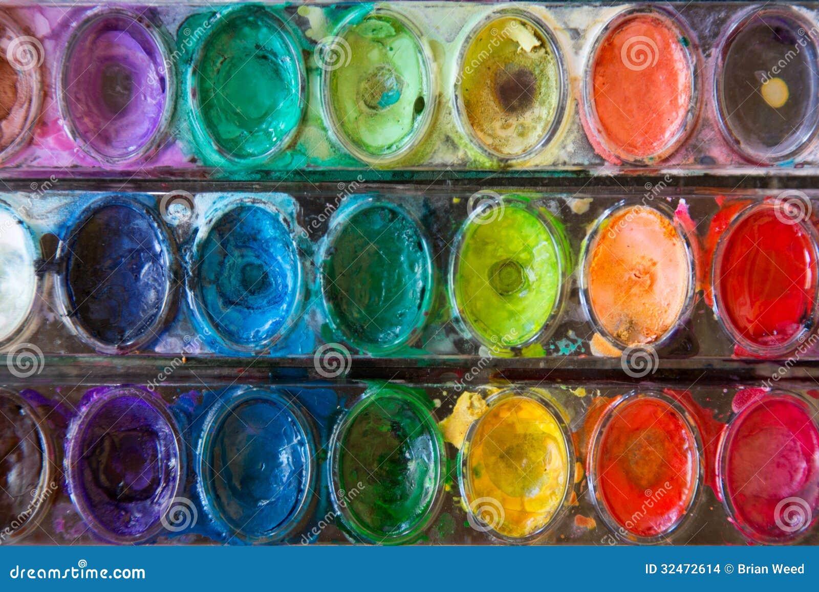Vattenfärgmålarfärger