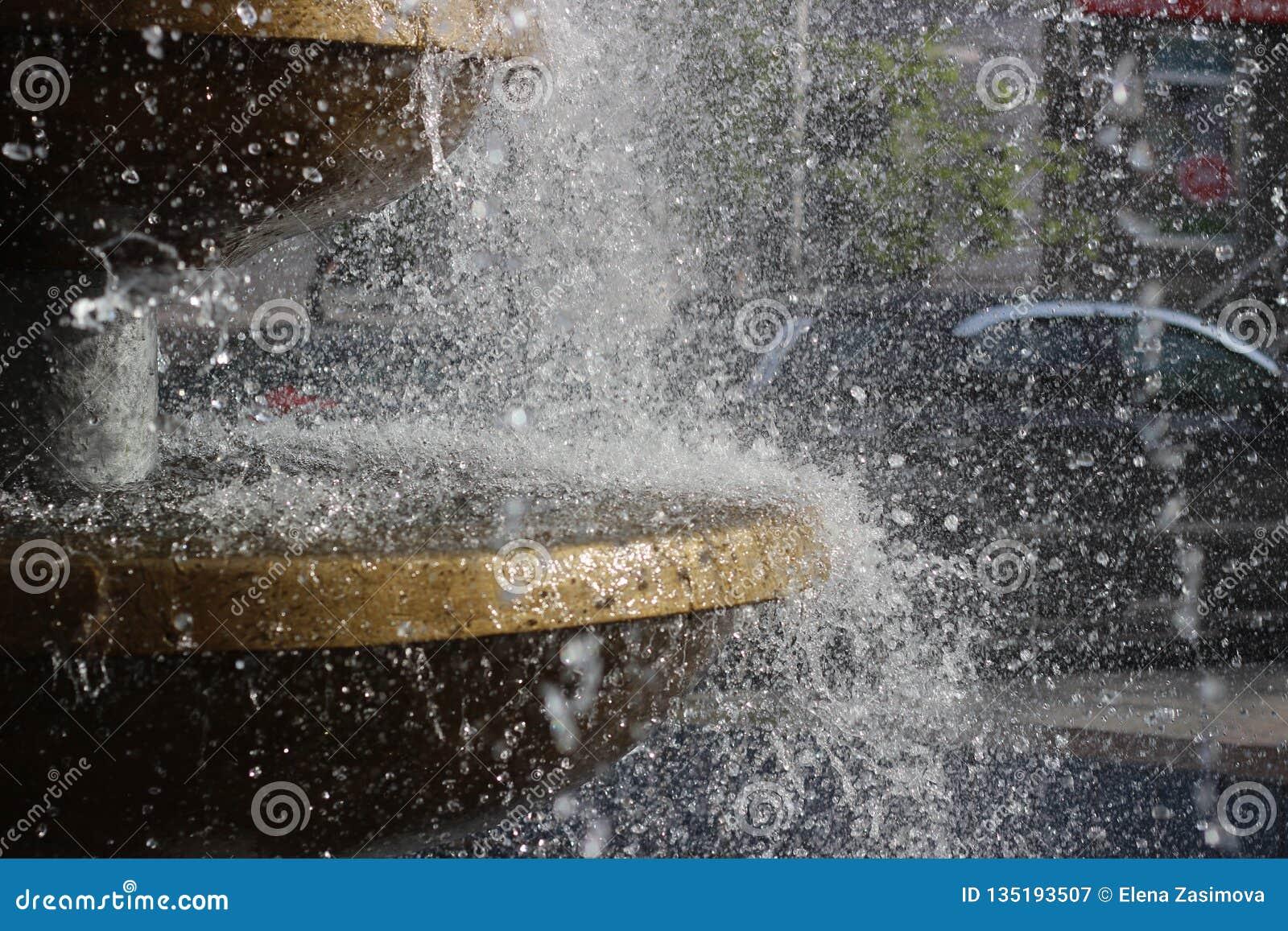 Vattenfärgstänk i luft