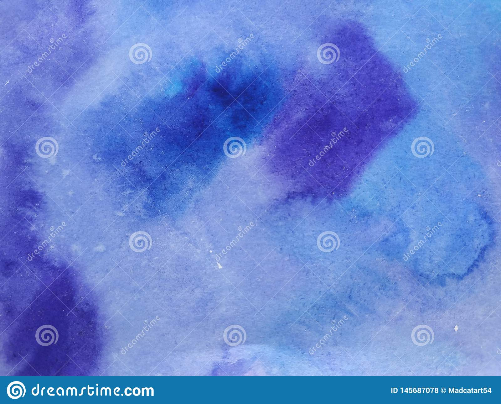 Vattenfärgviolett-blått bakgrund