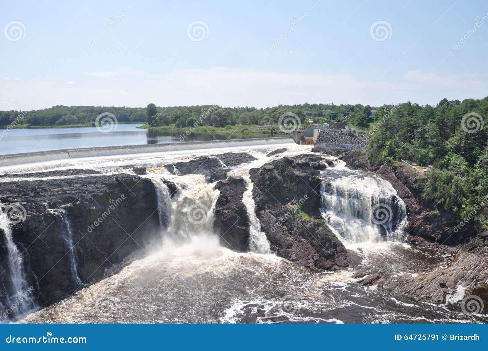 Vattenfall av Charny, Quebec, Kanada