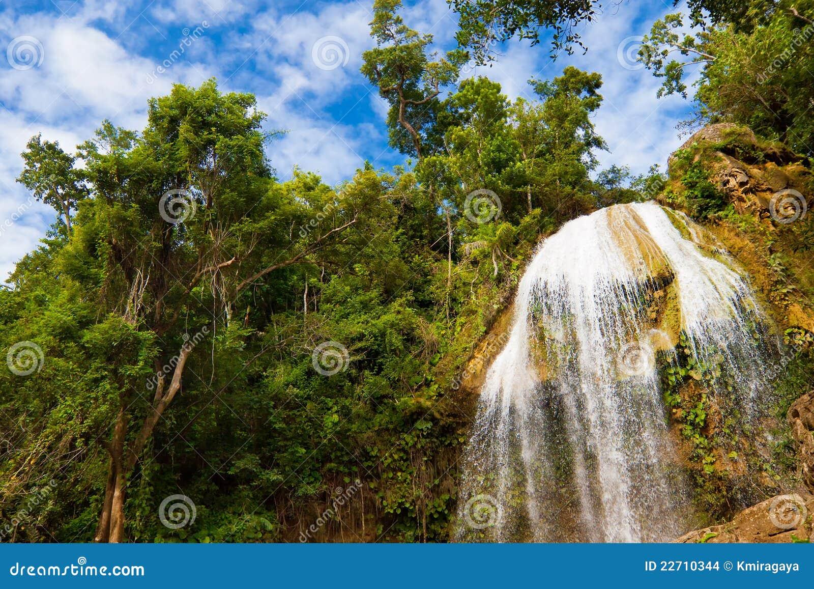 Vattenfall i Soroa, en berömd kubansk landmark
