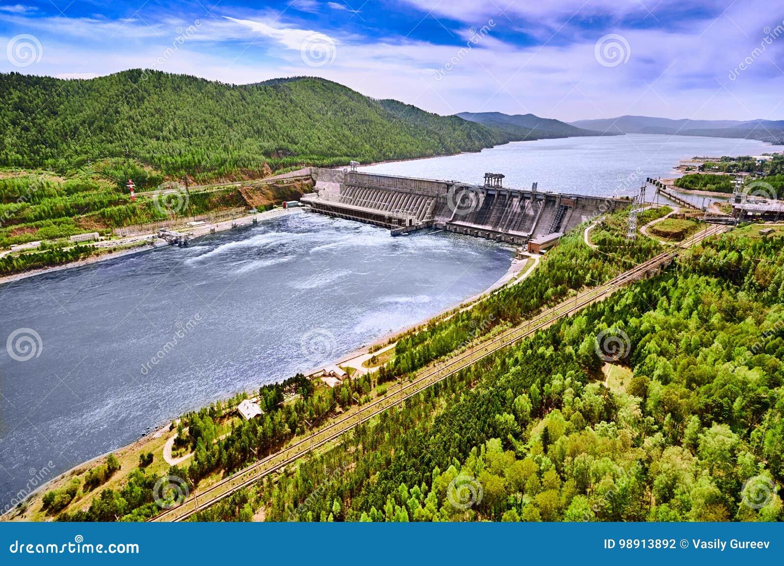 Vattenkraftstation i Krasnoyarsk