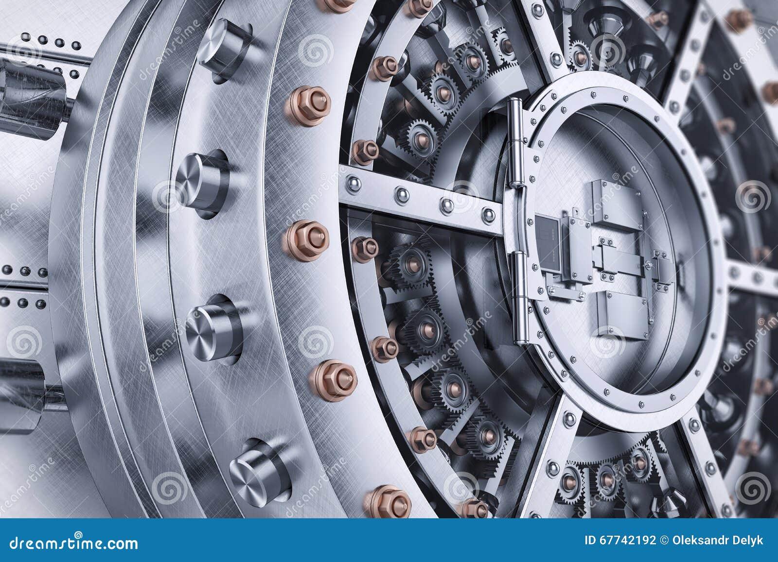 Vault Bank Safe Open Door Mechanism Stock Illustration