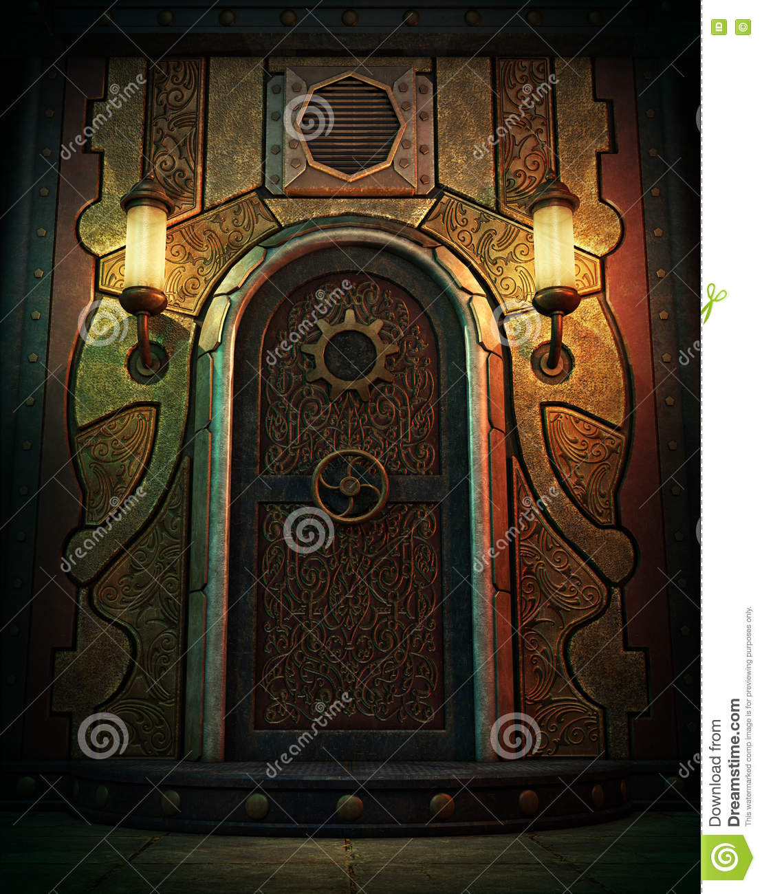 Royalty-Free Illustration & The Vault Door 3d CG stock illustration. Image of graphics - 76092456 pezcame.com