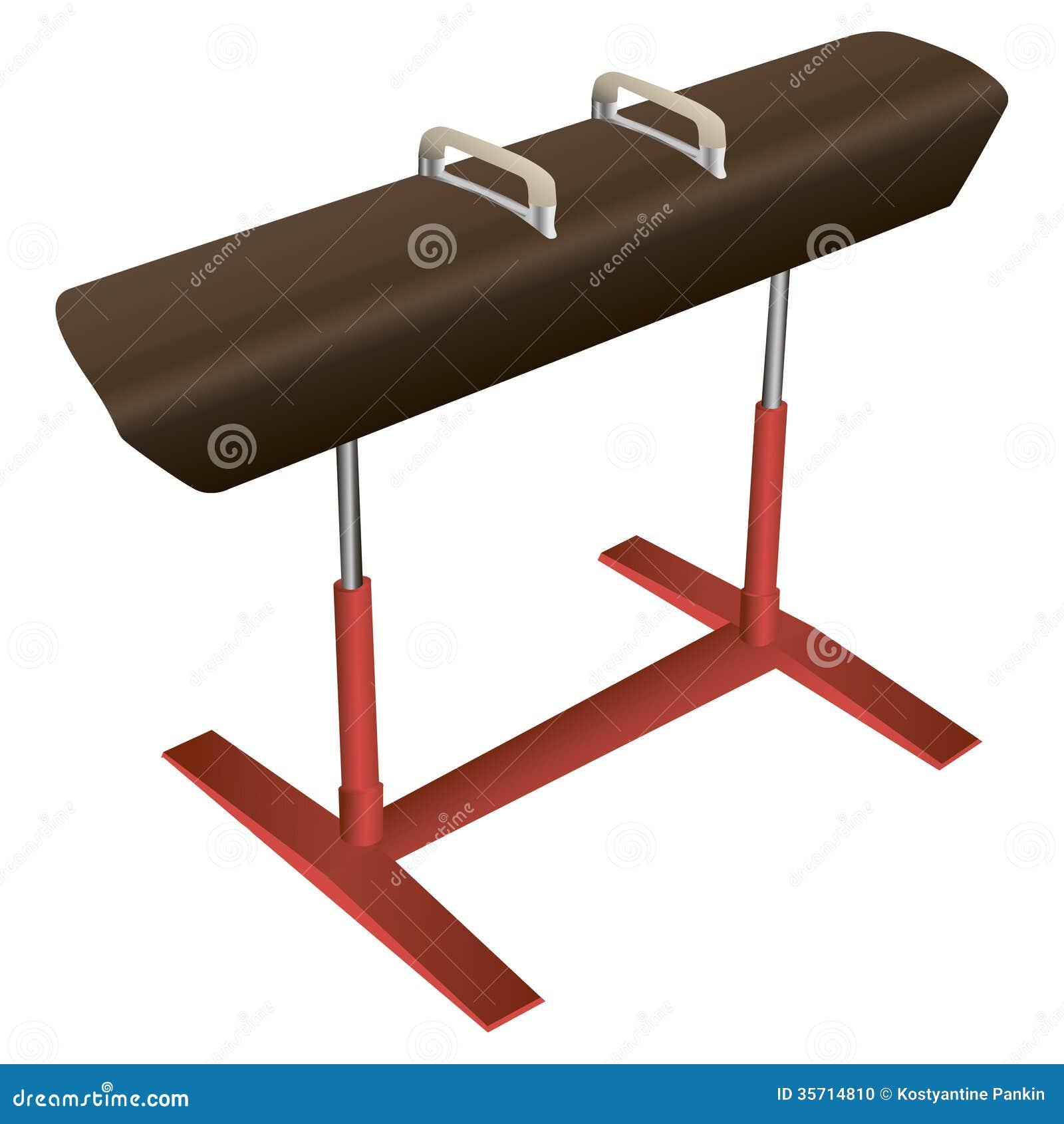 Athletics Gymnastics Strength: Vaulting Horse Stock Vector. Image Of Strength, Gymnastics