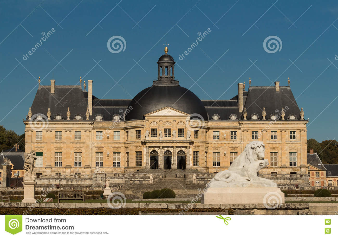 The Vaux-le-Vicomte castle, France.