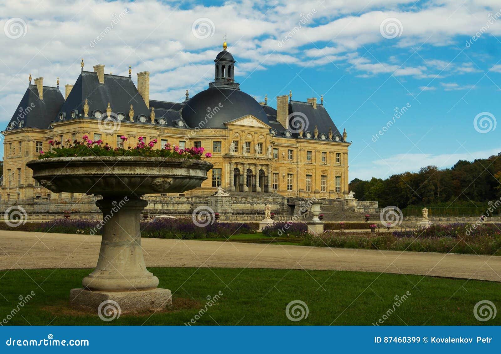 The Vaux-le-Vicomte castle ,France.
