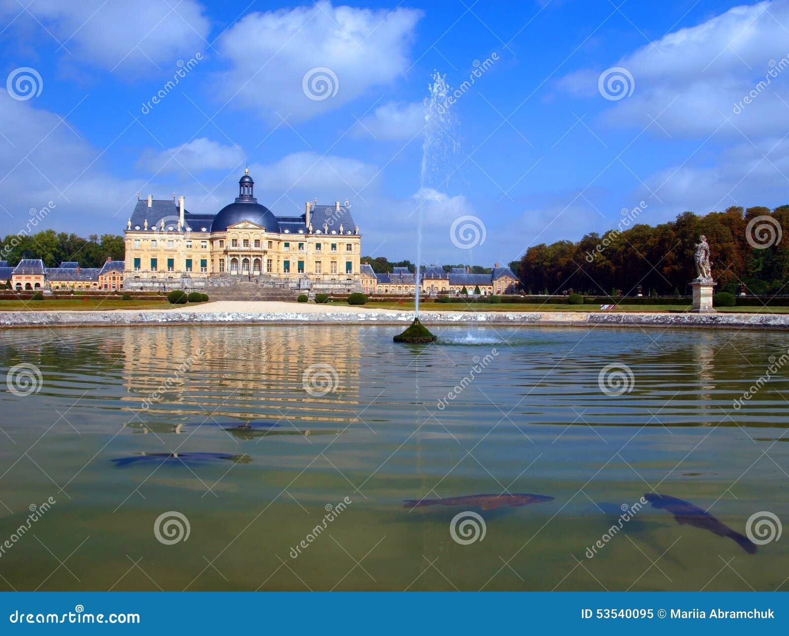 Vaux Le Vicomte, Frankrike, slotten nära Paris