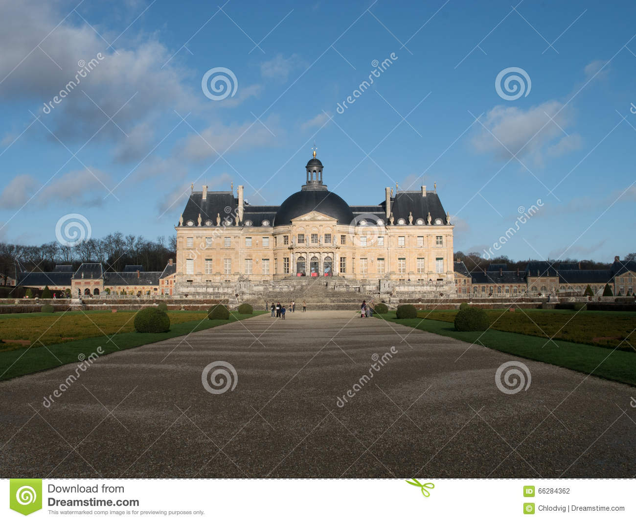 Vaux le Vicomte Palace near Paris in France