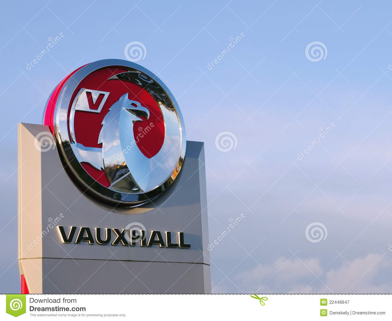 vauxhall motors griffin logo editorial photography image