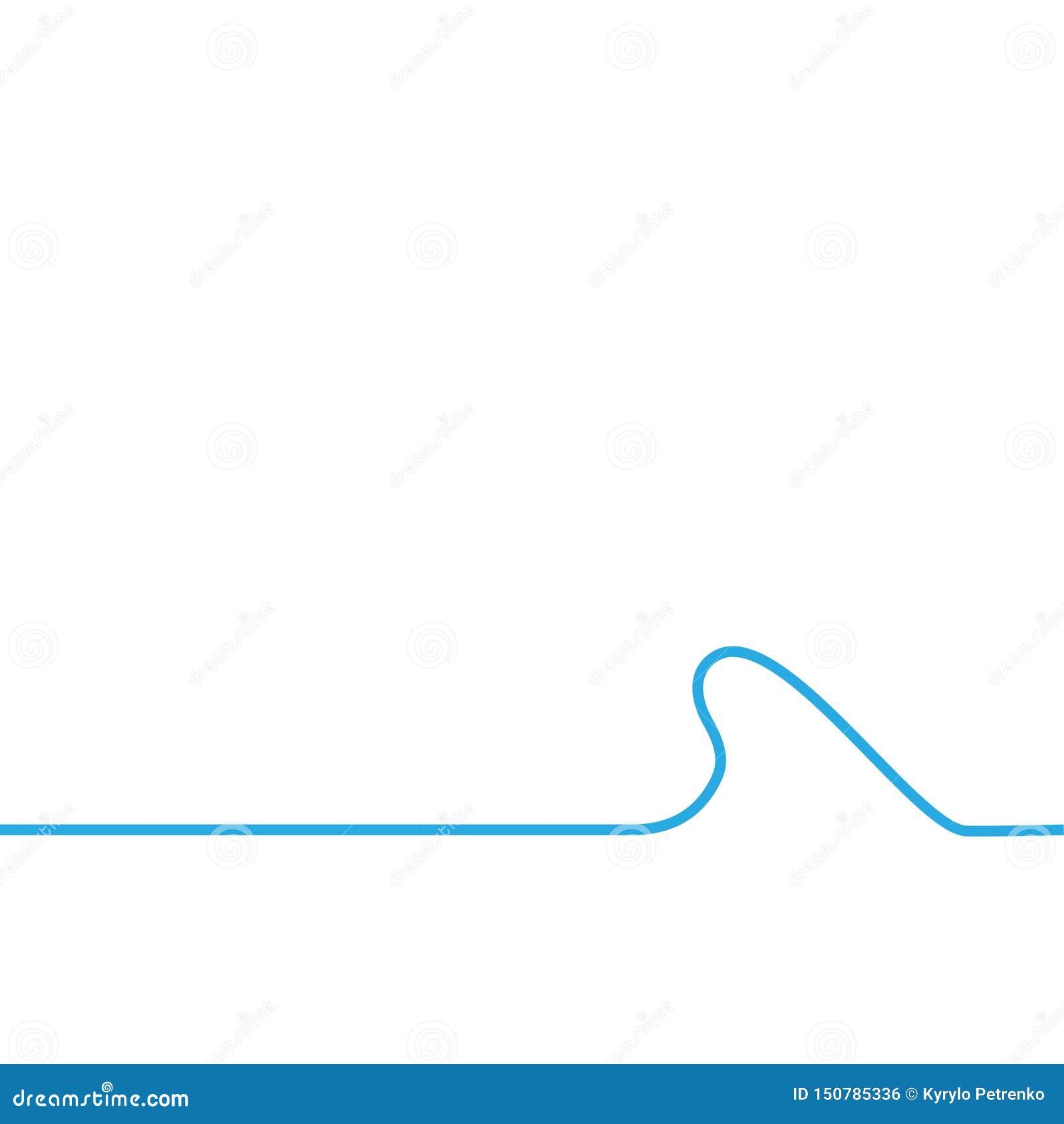 Vawe bleu de mer sur le fond de whtie