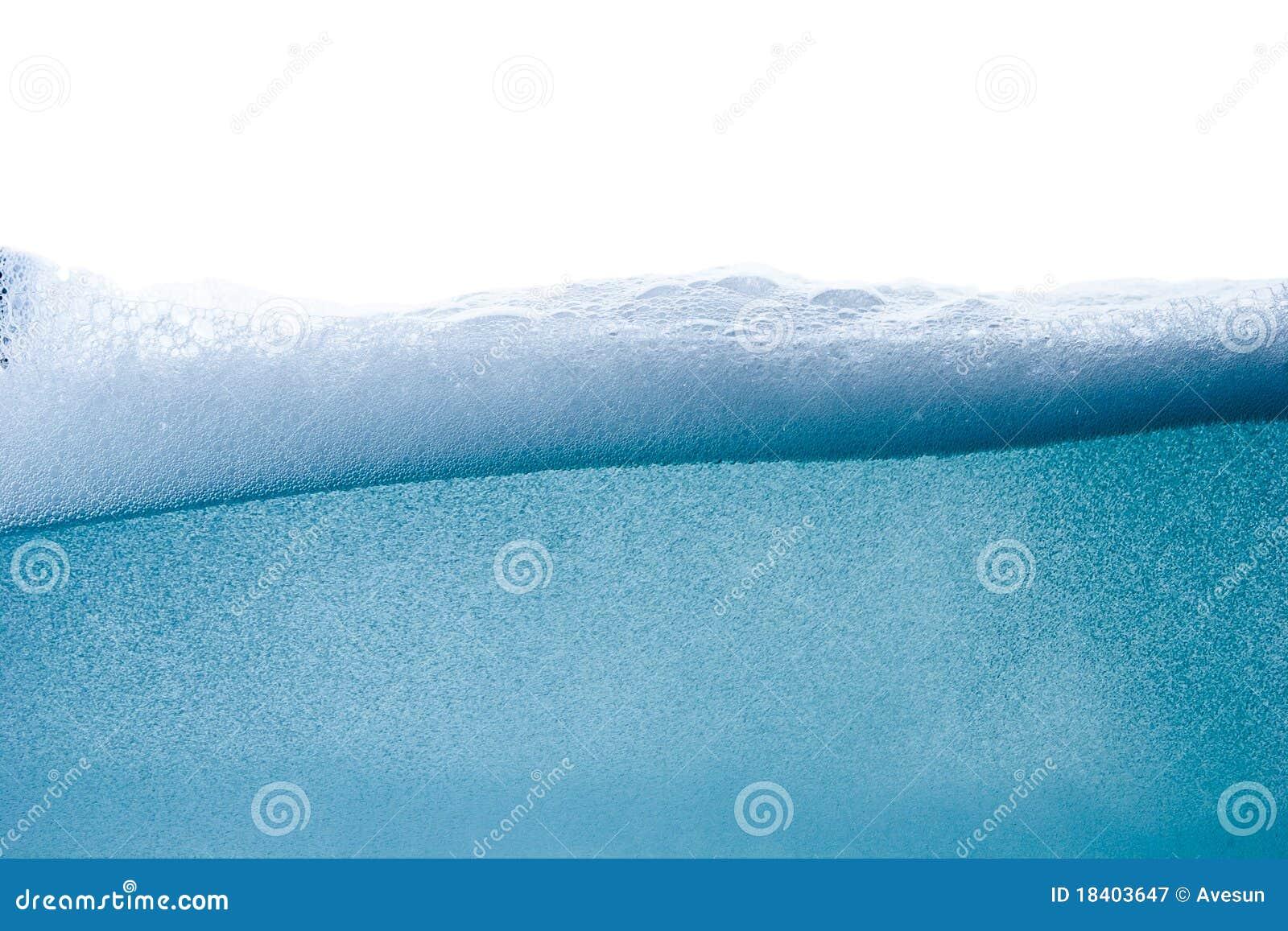 Vawe da água azul