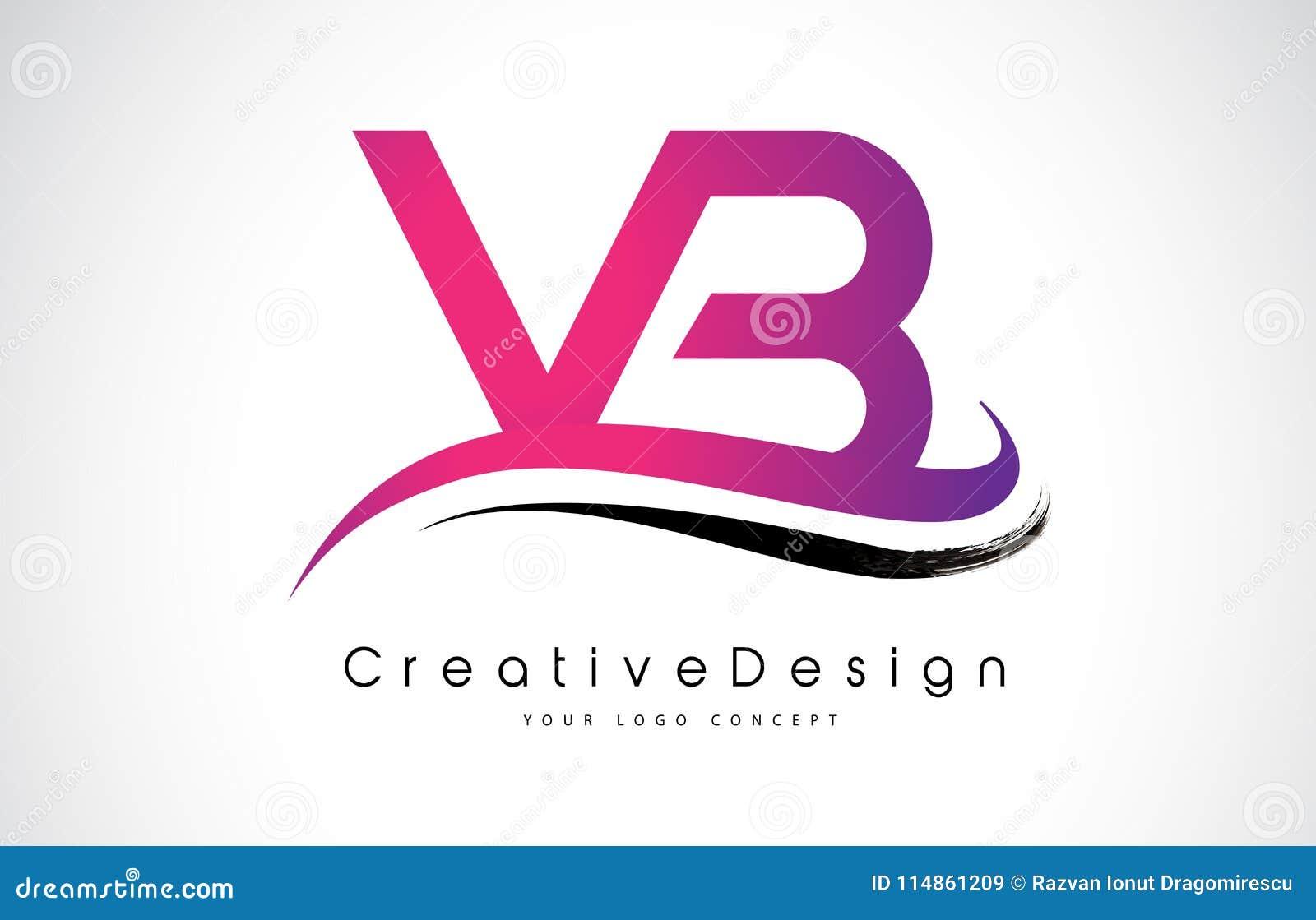 VB V B Letter Logo Design. Creative Icon Modern Letters Vector L ...