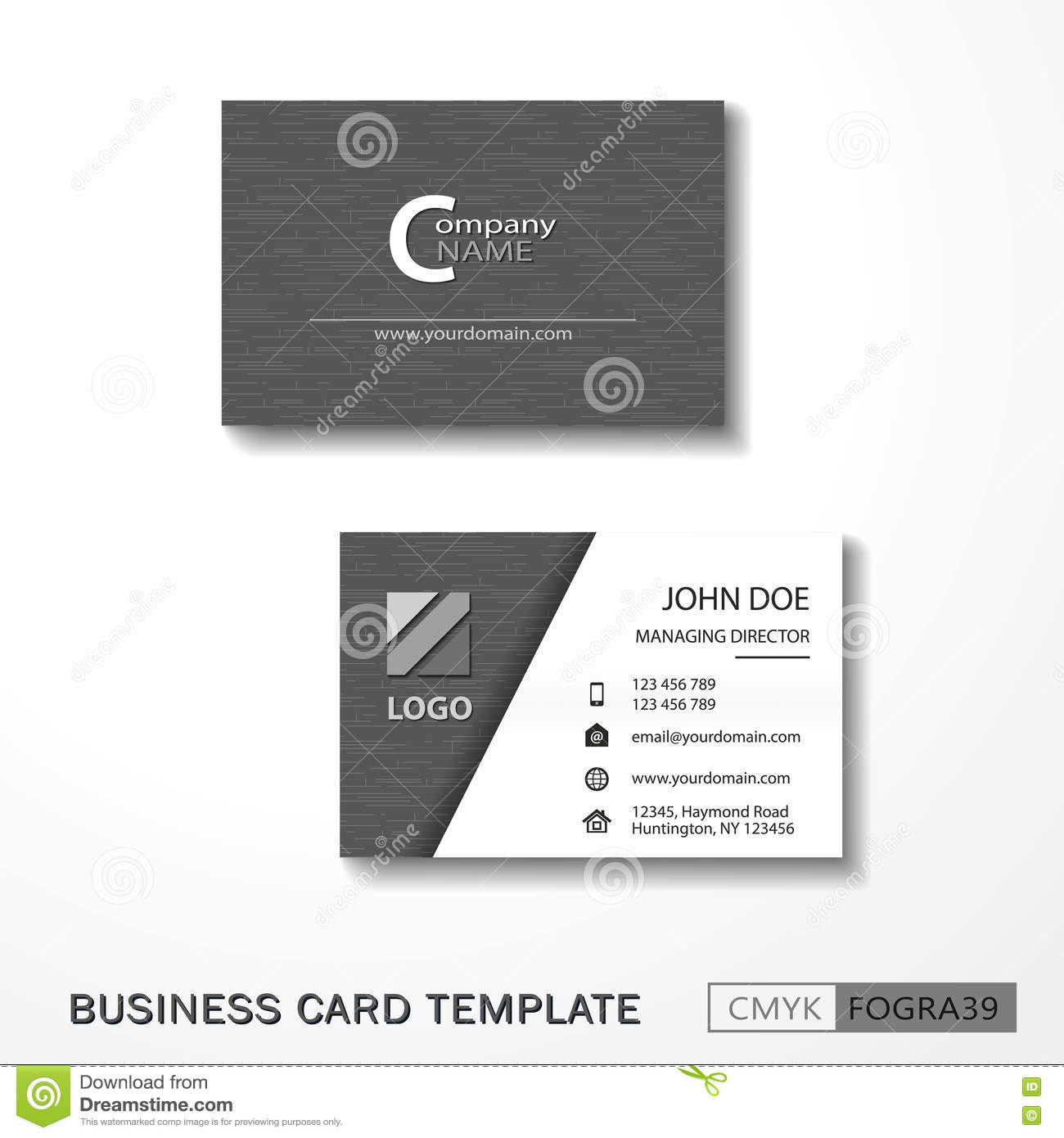 Vcard business card set gray stock vector illustration of post download vcard business card set gray stock vector illustration of post business 73605607 colourmoves