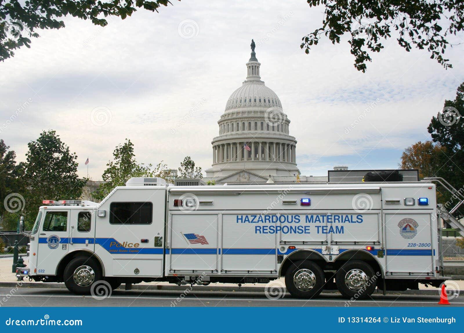 Veículo de Hazmat, Washington DC