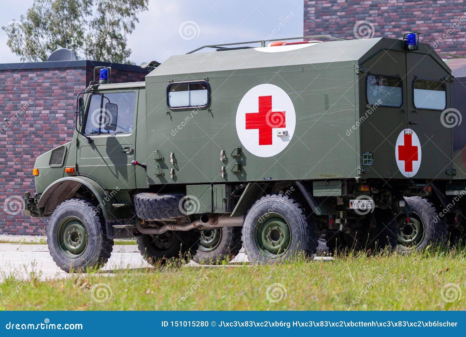 Veículo militar alemão da ambulância
