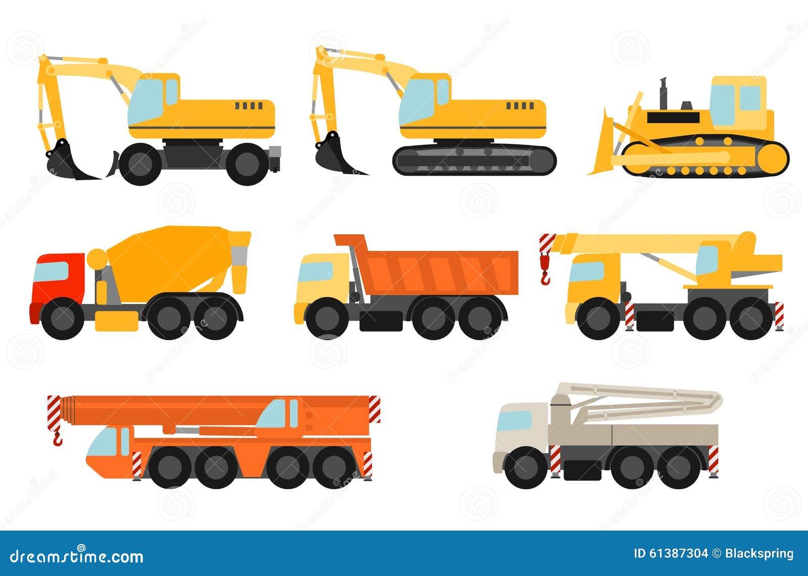 Veículos da construção ajustados
