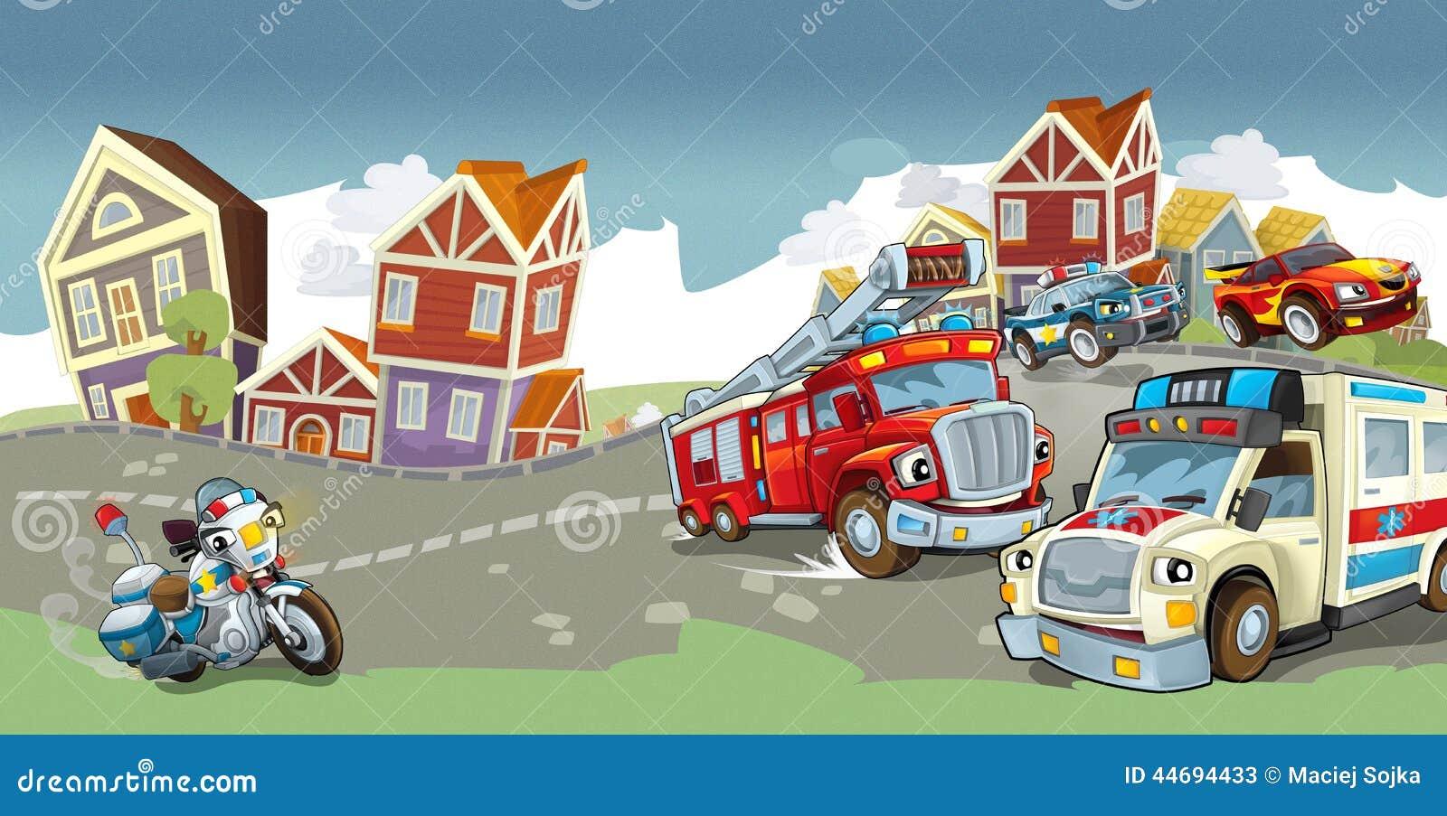 Veículos na estrada