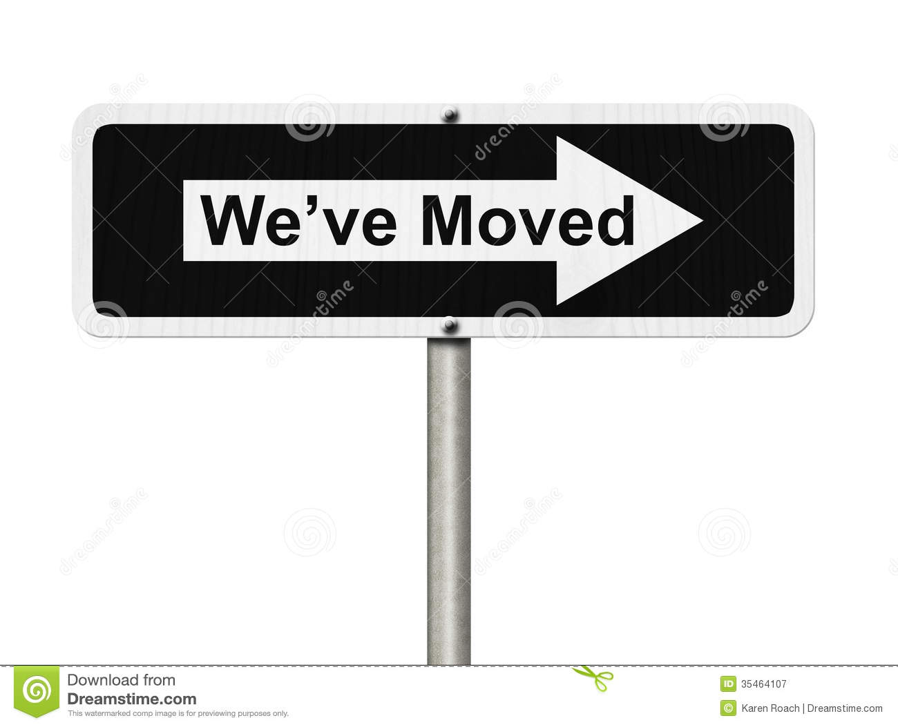We Have Moved Sign Stock Vector - Image: 58355149