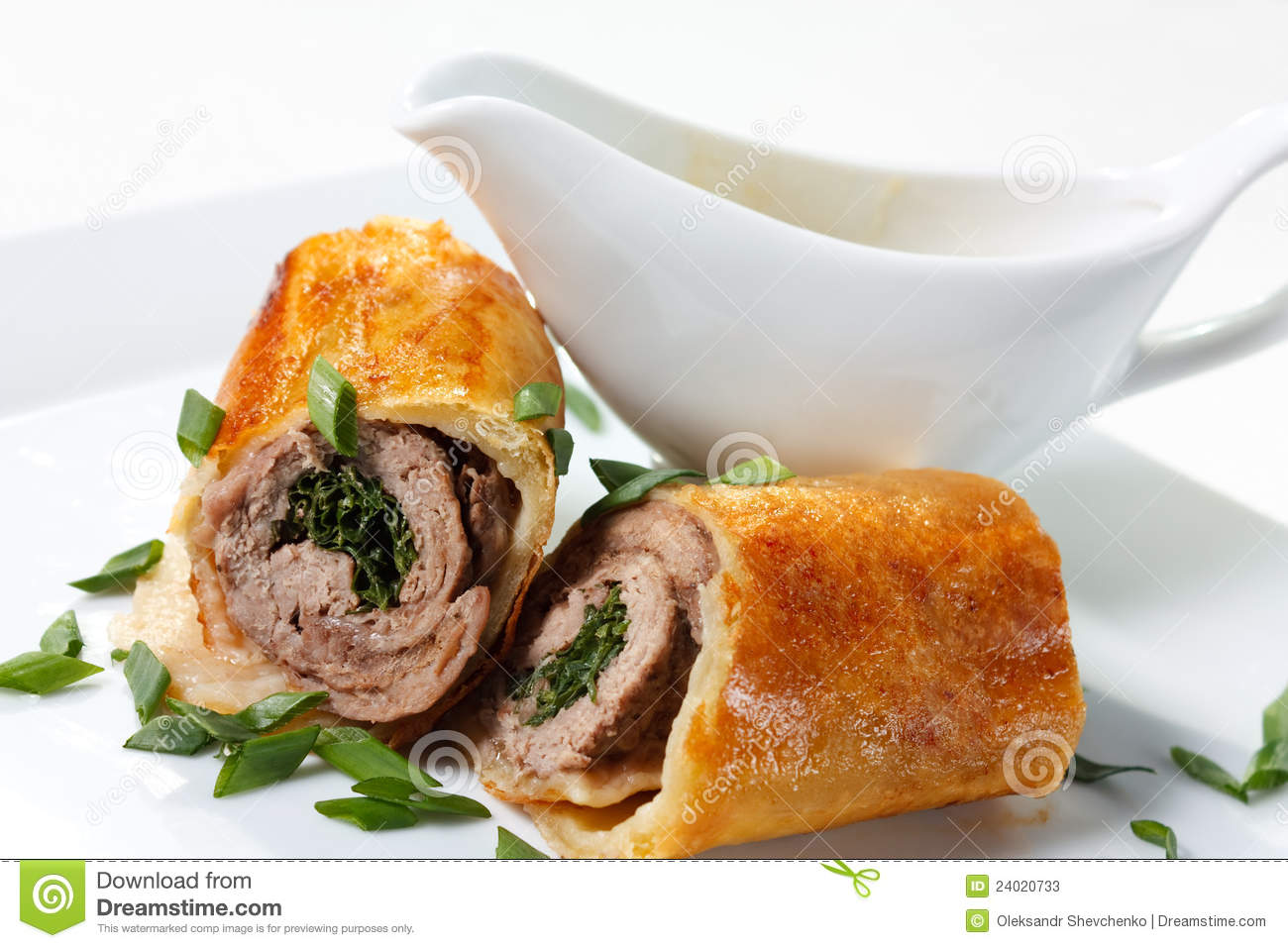 Veal Baked in Puff Dough