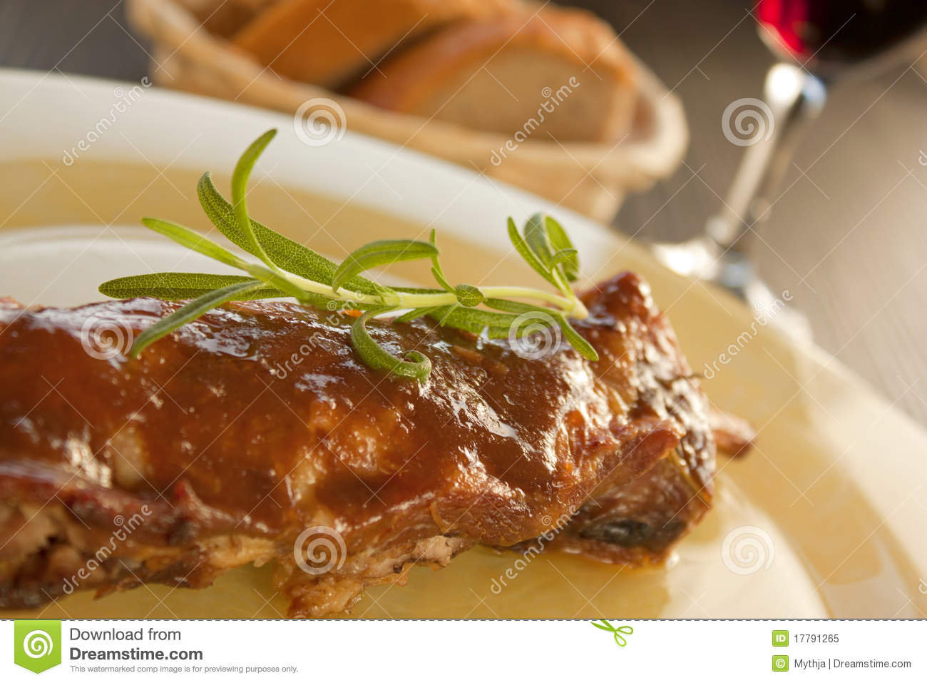 Veal ribs with sauce