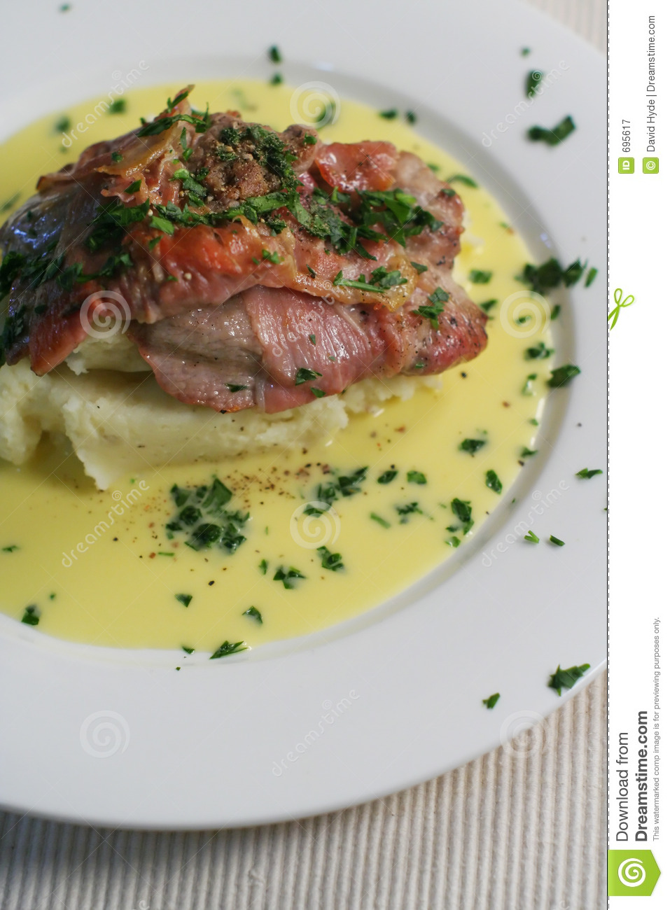on creamy mash with Beure blanc (butter sauce infused with lemon ...