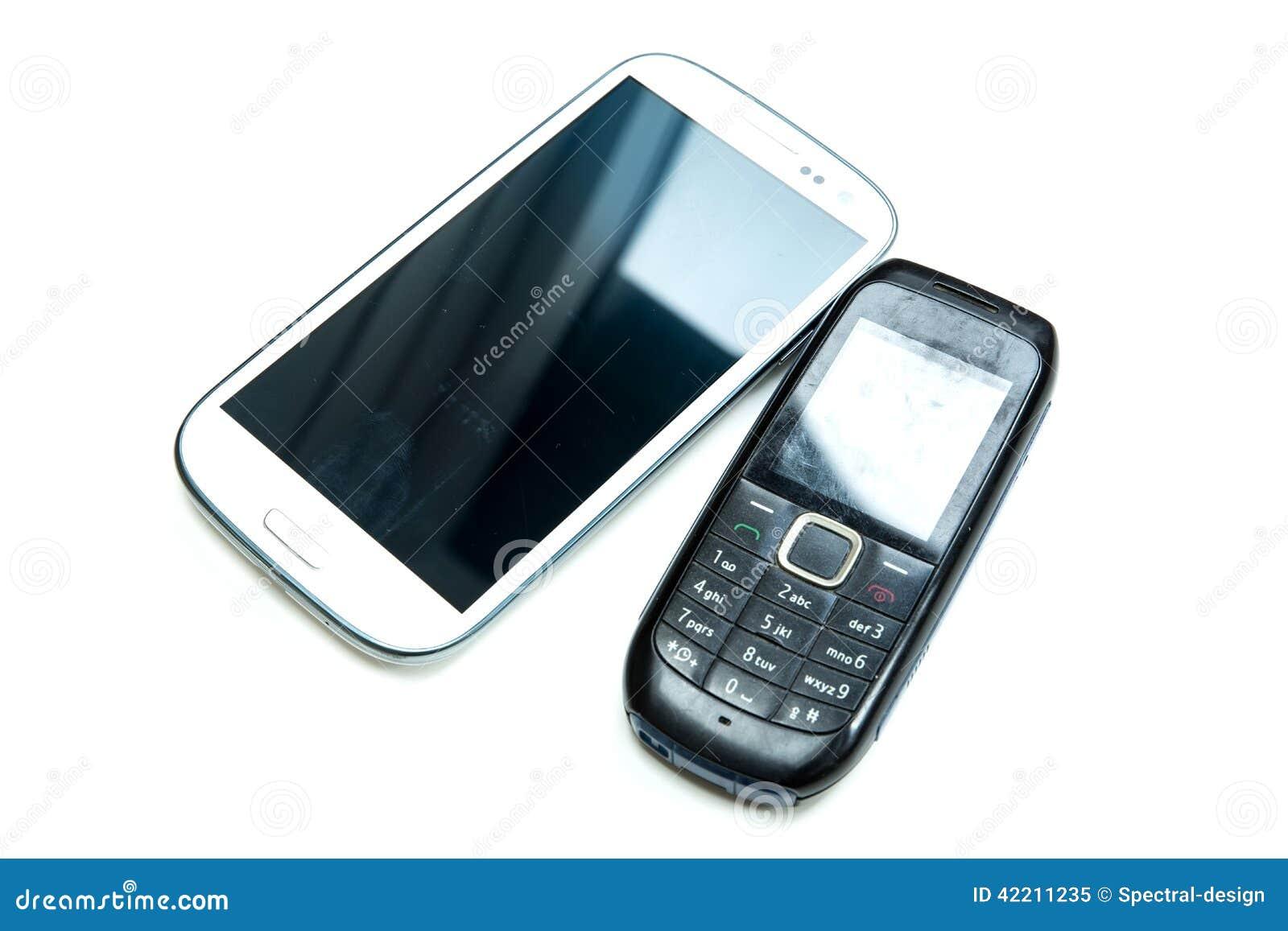 Vecchi e nuovi cellulari immagine stock immagine di for Nuovi vecchi piani domestici