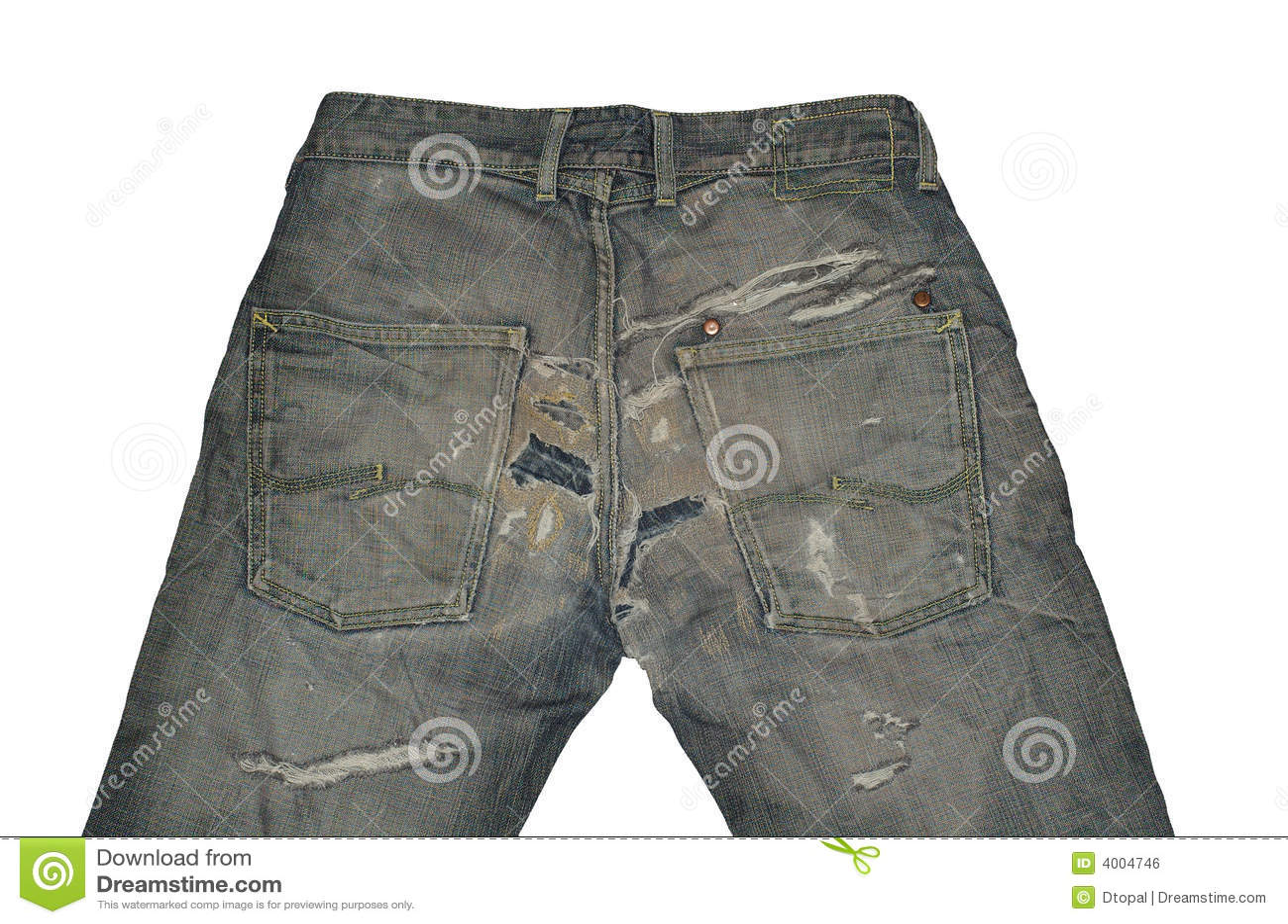 Vecchi jeans dell annata
