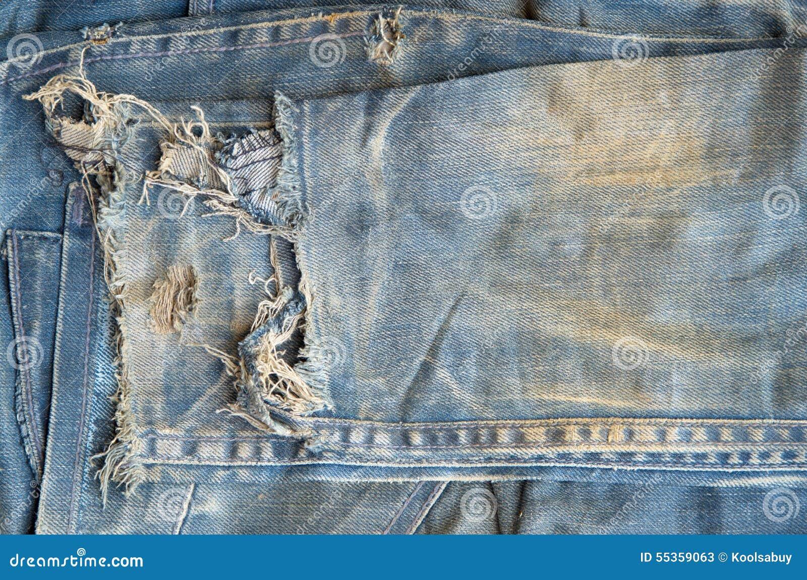 Vecchi pantaloni dei jeans