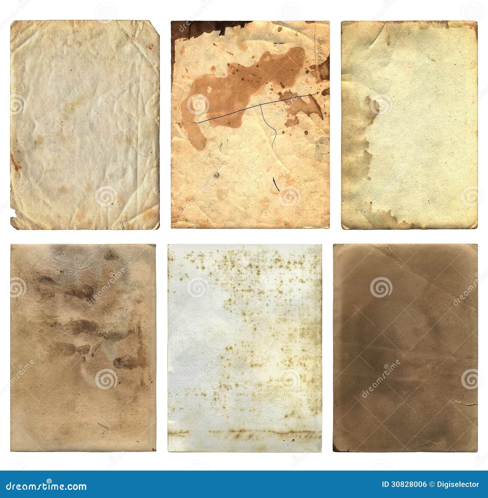Vecchi pezzi 2 della carta di lerciume
