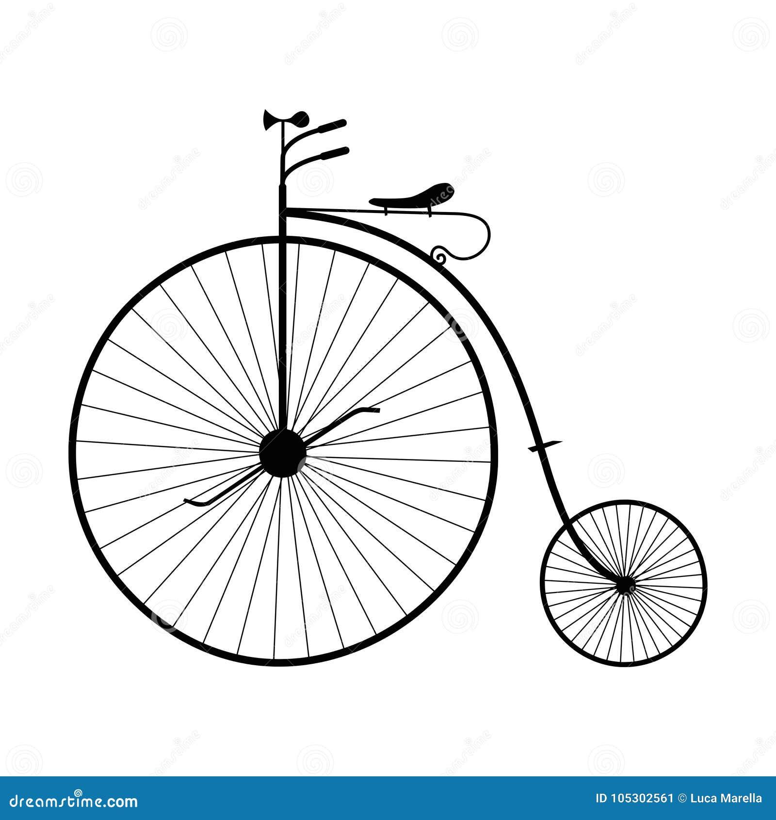 Vecchia Bicicletta Isolata Png Immagine Stock Illustrazione Di