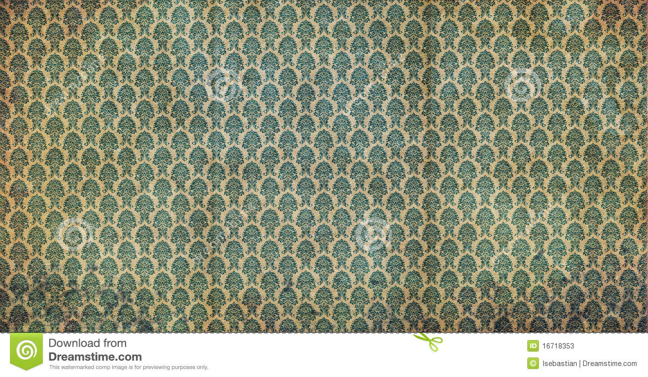 Vecchia carta da parati verde illustrazione di stock for Carta da parati verde