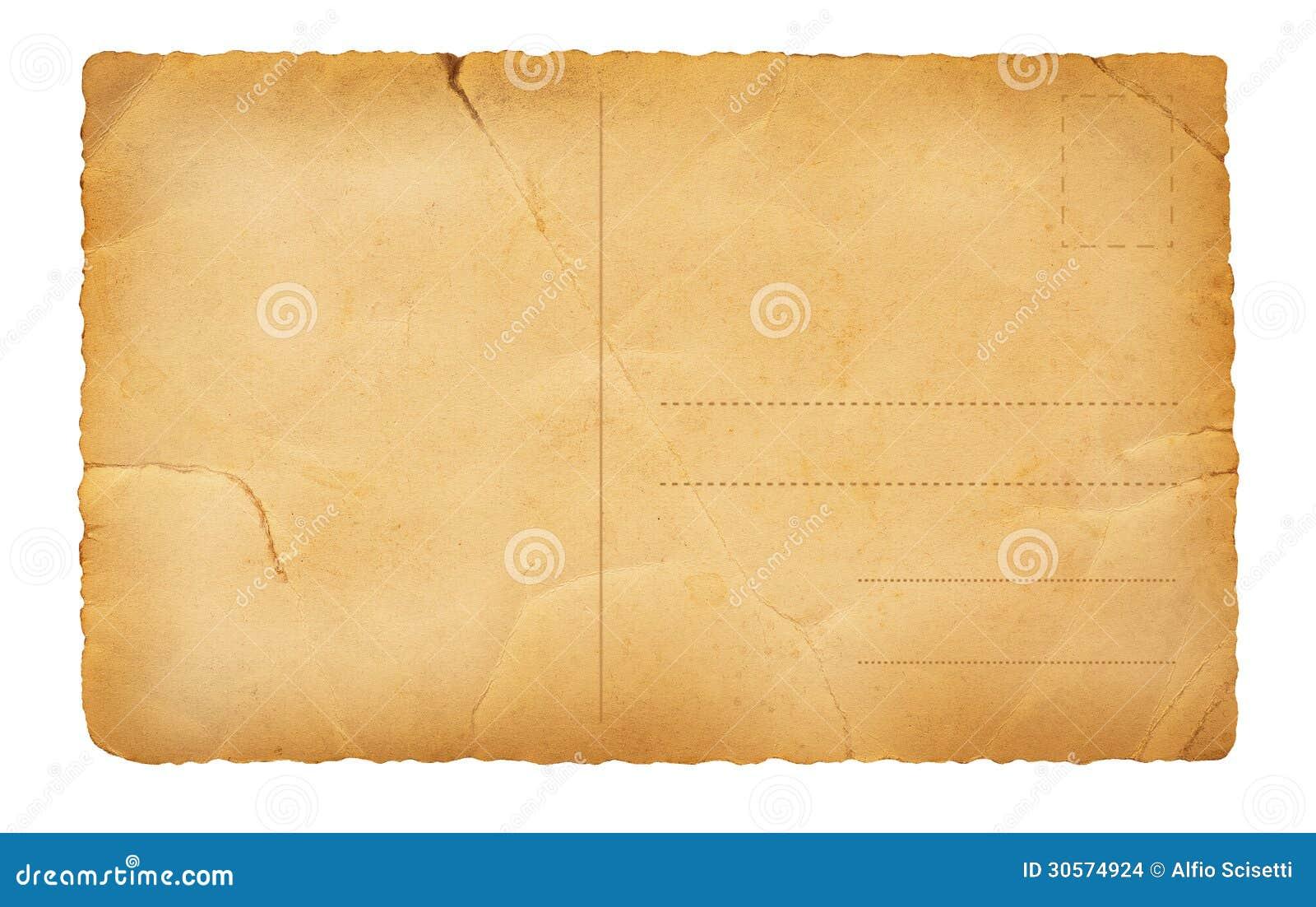 Vecchia cartolina posteriore