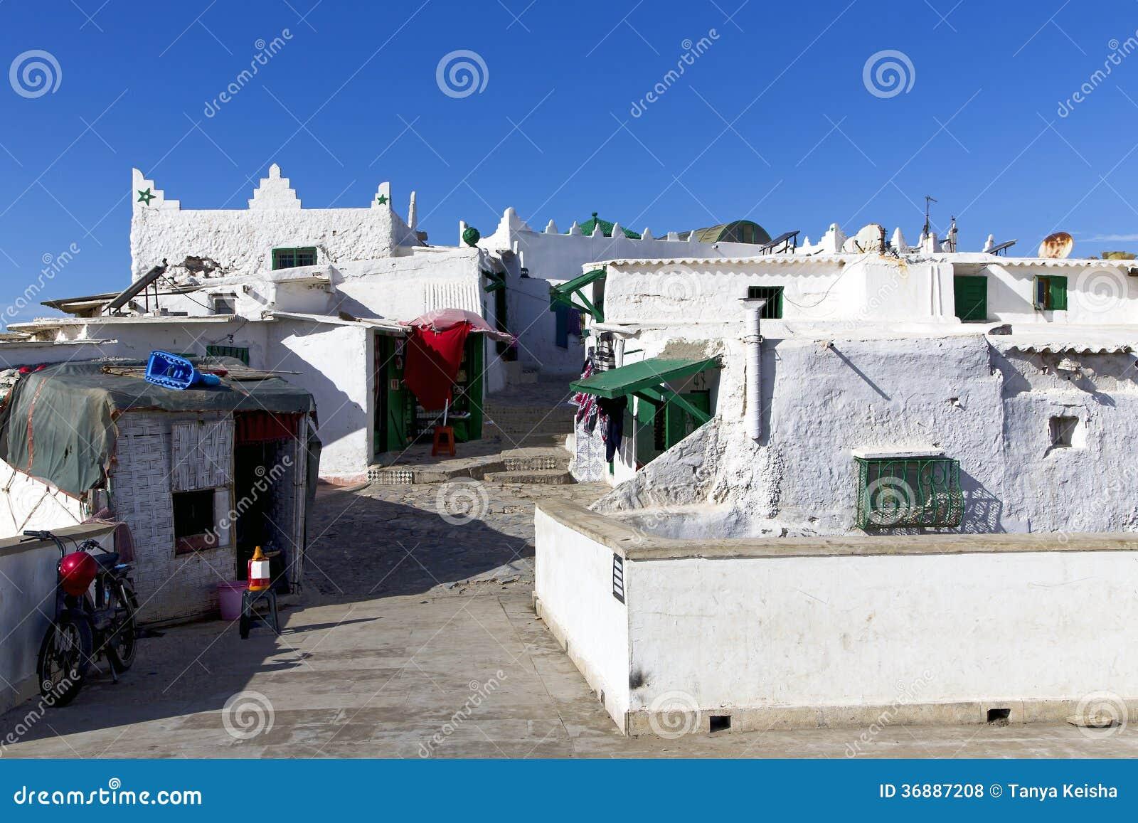 Download Vecchia Casa Branca (la Casa Bianca) Del Paesino Di Pescatori Di Berbero Fotografia Stock - Immagine di marocchino, berber: 36887208