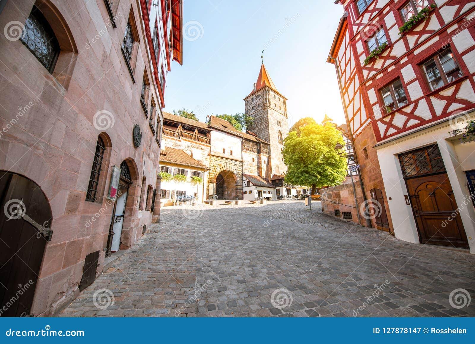 Vecchia città della città di Nurnberg, Germania
