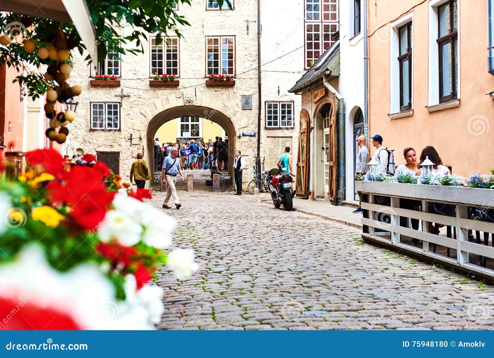 Vecchia città di Riga Il Northern Europe latvia