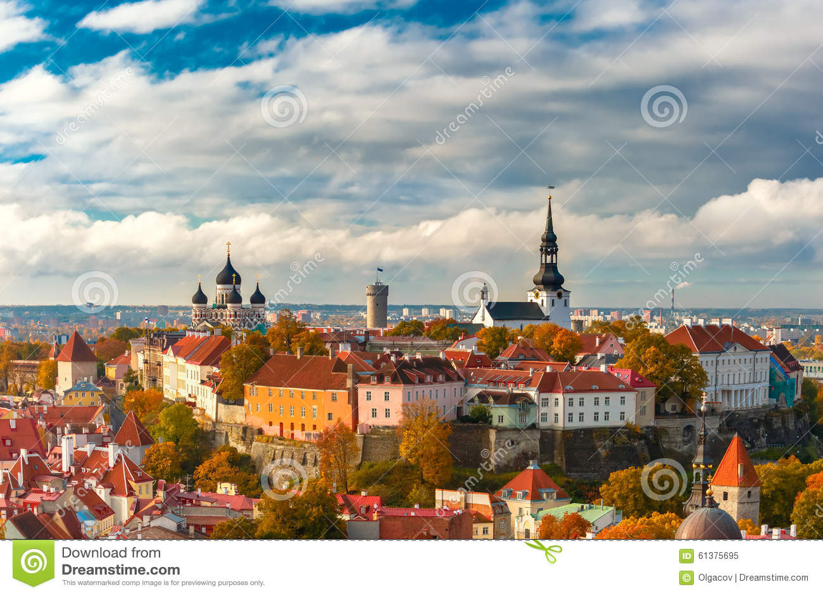 Vecchia città di vista aerea, Tallinn, Estonia