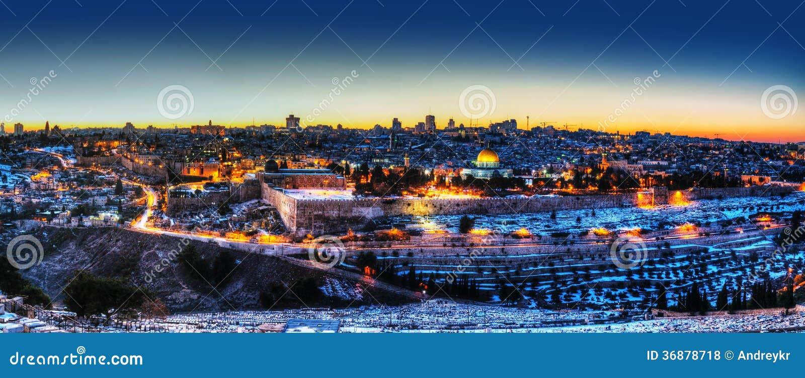 Download Vecchia Città A Gerusalemme, Panorama Di Israele Fotografia Stock - Immagine di religione, antico: 36878718