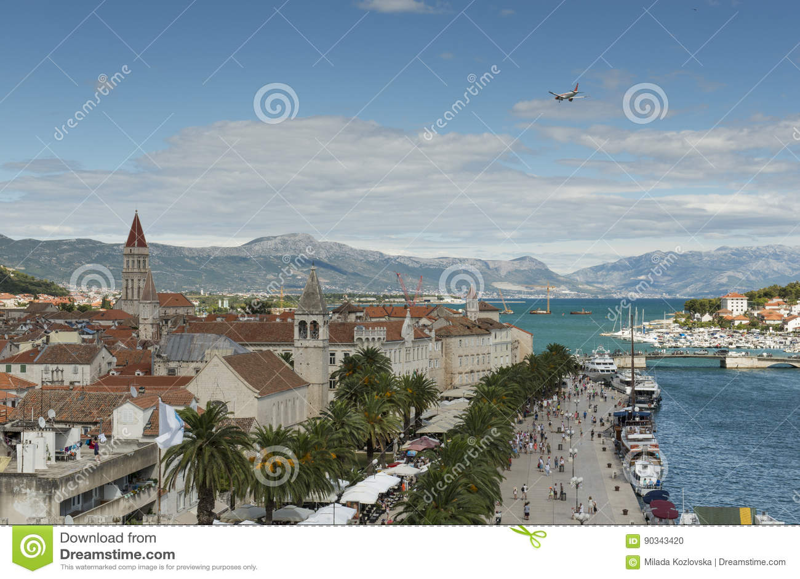 Vecchia città medievale Traù, Croazia dell Unesco