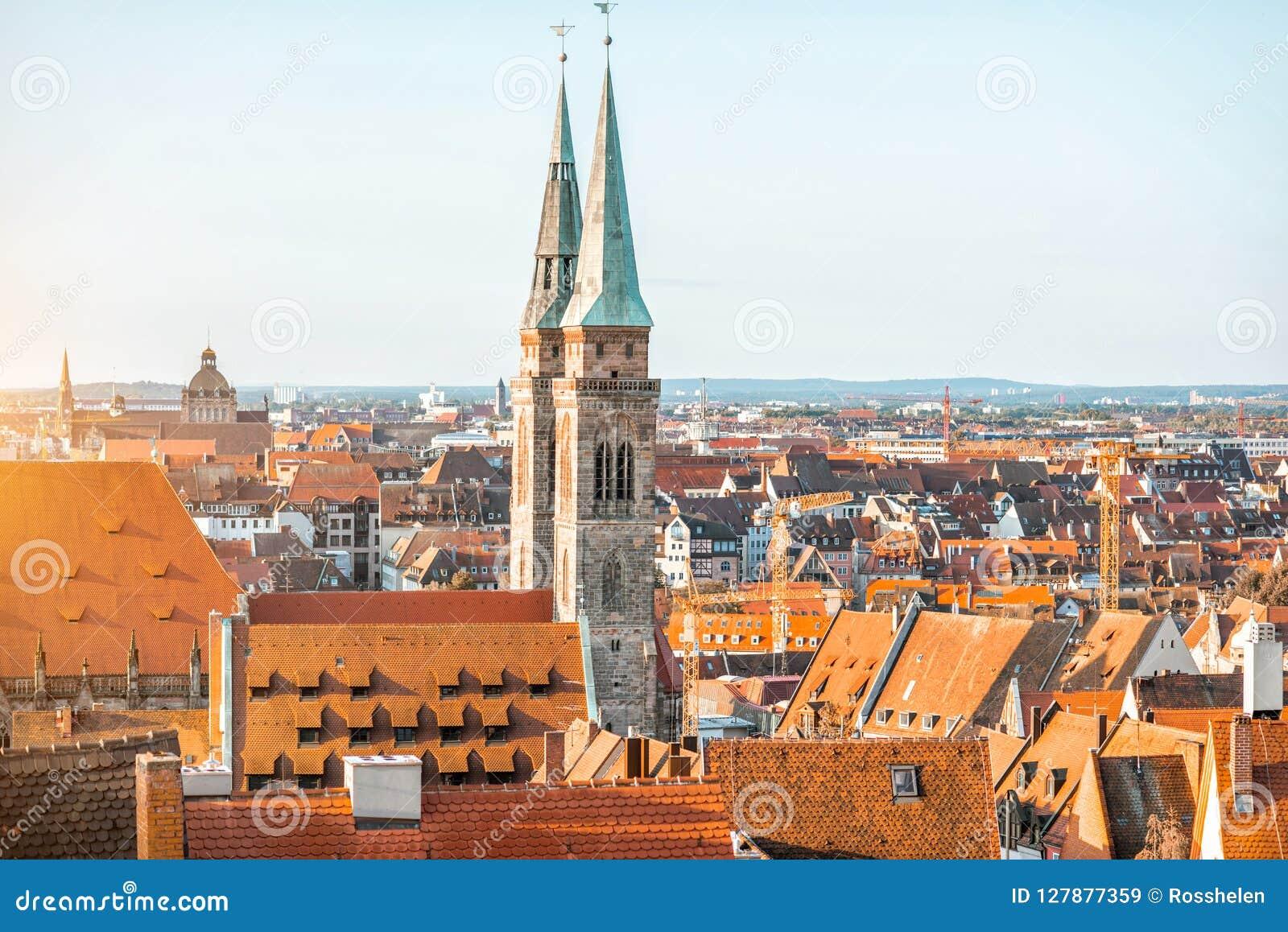 Vecchia città nella città di Nurnberg, Germania
