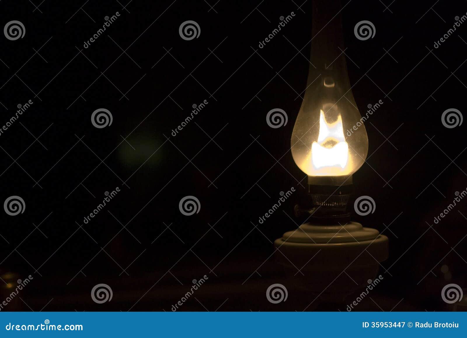 Vecchia lampada di gas
