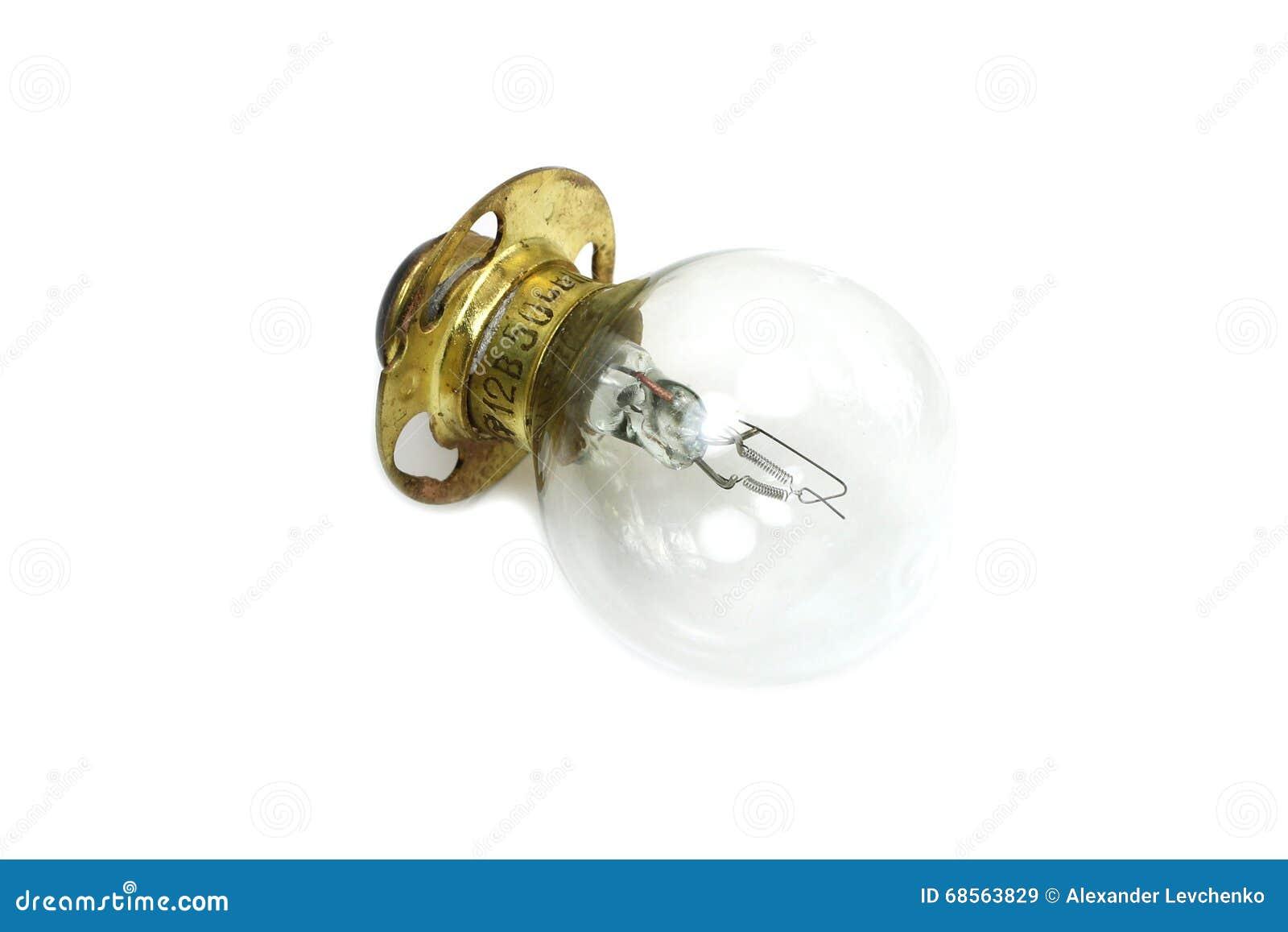 Vecchia lampada a incandescenza immagine stock immagine di lega