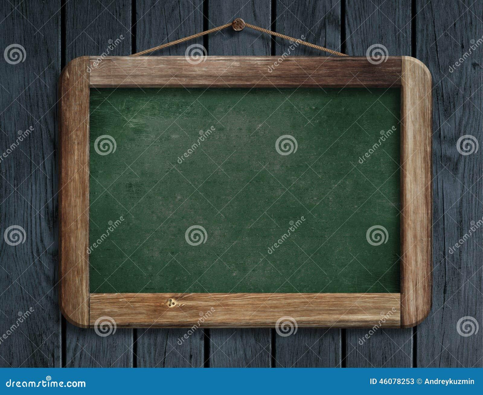 Parete Di Lavagna Prezzo : Vecchia lavagna verde del menu che appende sulla parete di legno