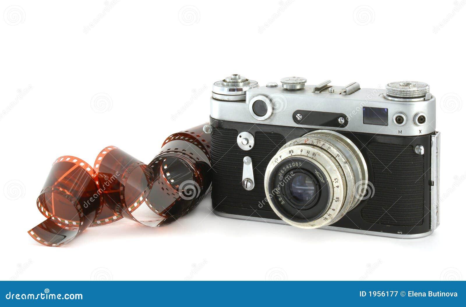 Vecchia Macchina Fotografica Con Una Pellicola Immagine Stock Immagine Di Grano Pellicola 1956177