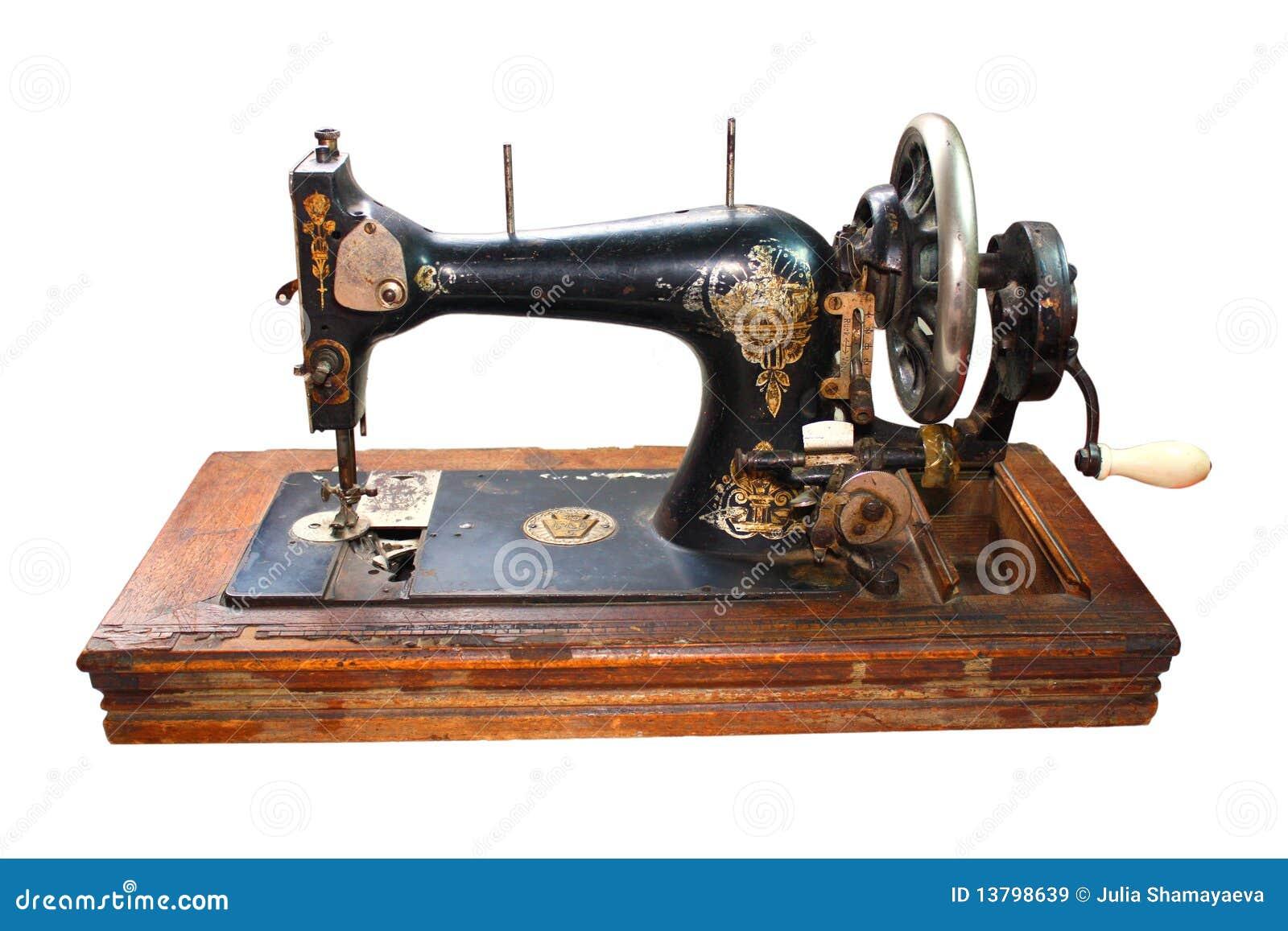Vecchia macchina per cucire nera immagine stock immagine for Macchina da cucire portatile prezzi