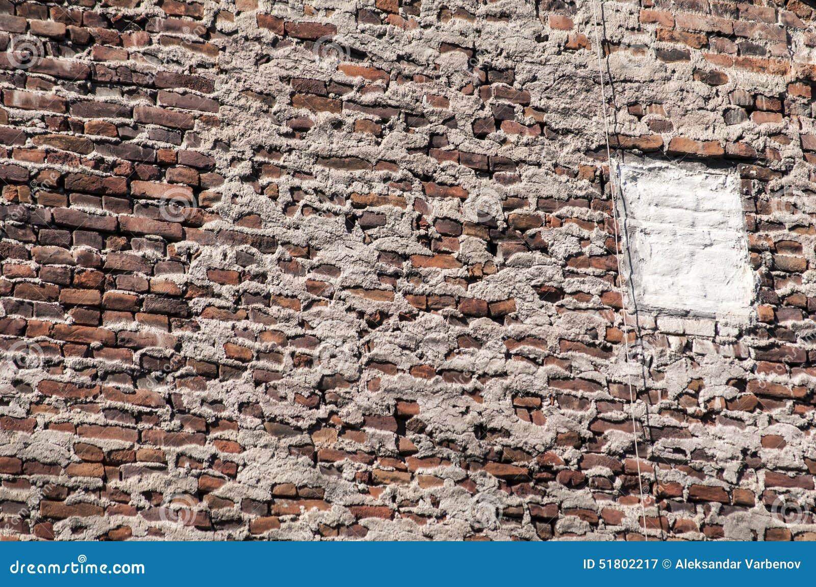 Vecchia parete della casa con mattoni a vista di lerciume - Parete con mattoni a vista ...