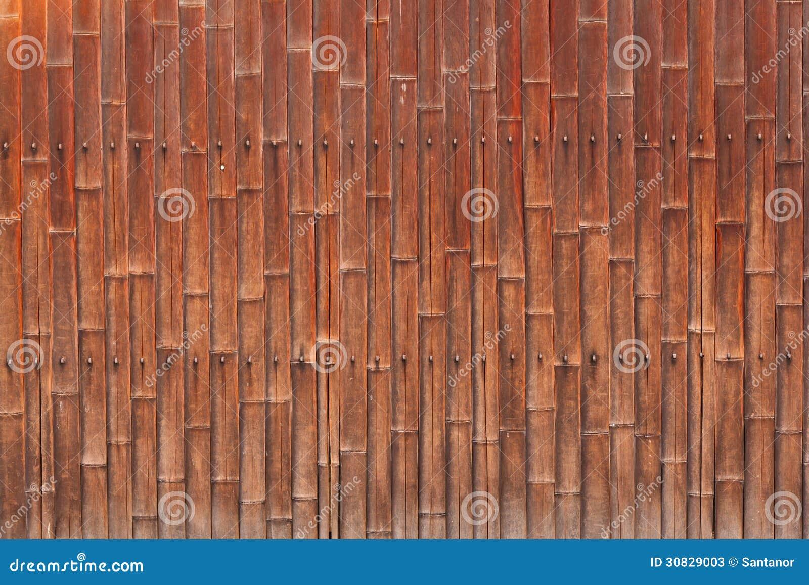 Vecchia parete di bambù