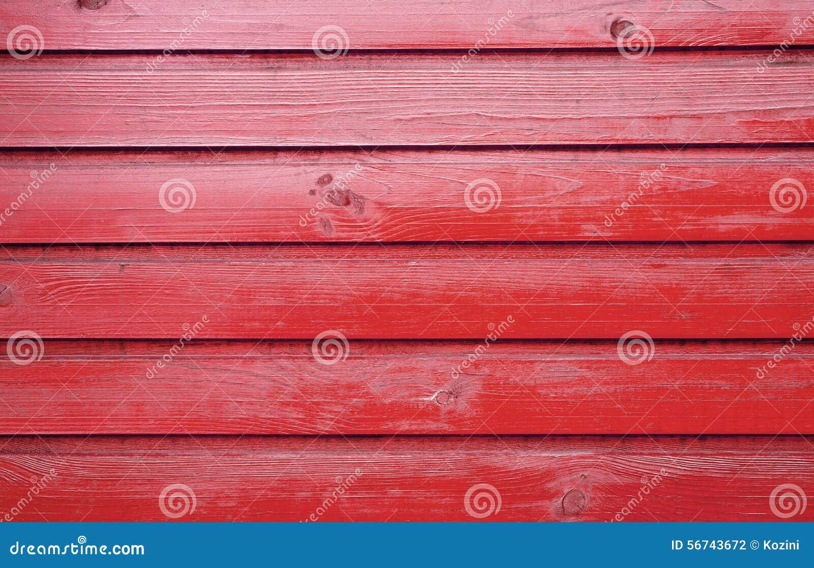 Vecchia parete di legno colore rosso verniciato fotografia - Parete di legno ...