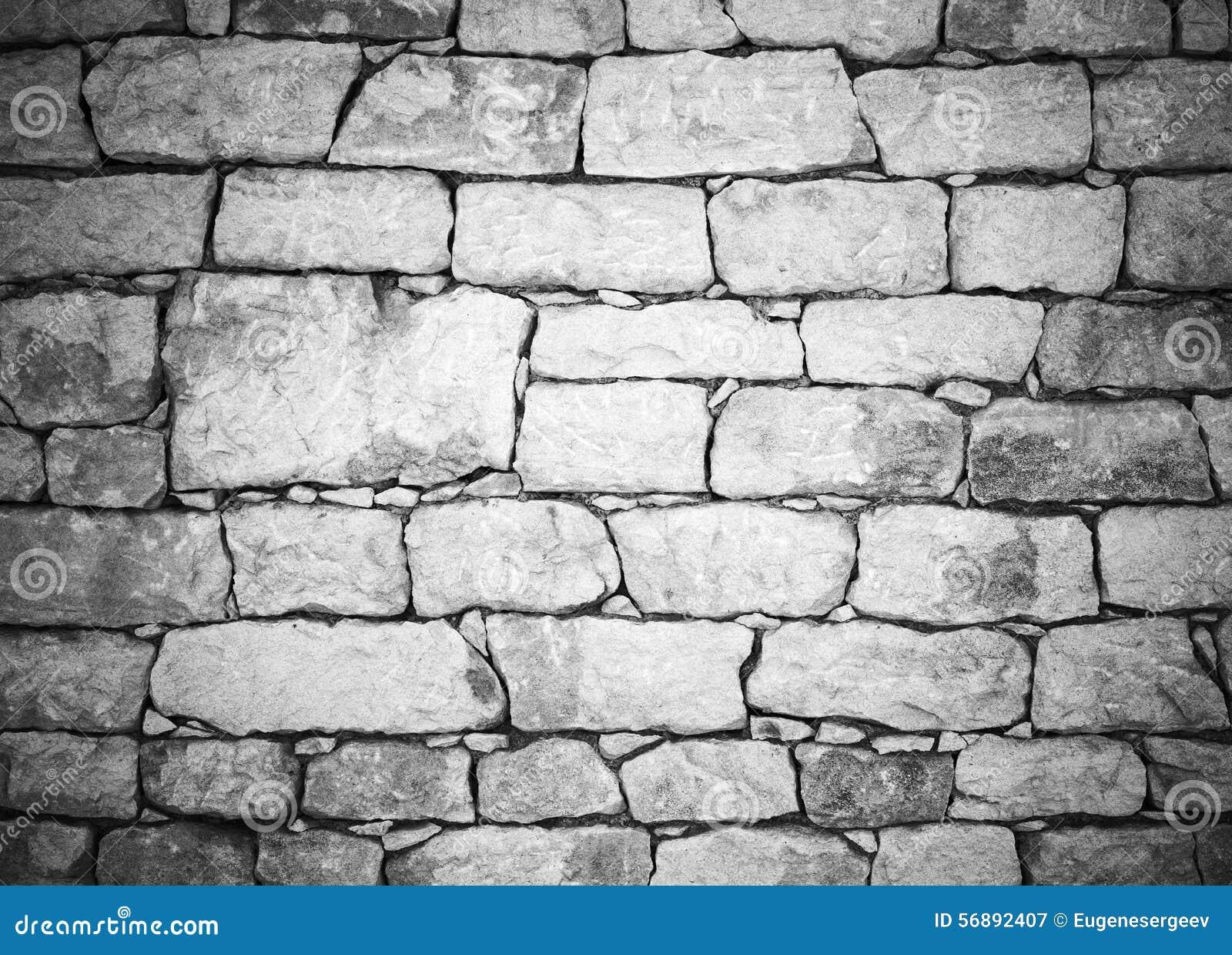 Vecchia parete di pietra bianca, fondo dettagliato