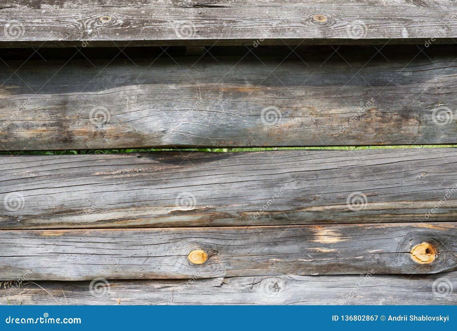 Vecchia priorità bassa di legno Recinto del primo piano La struttura del recinto di legno
